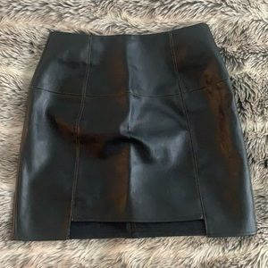 Missguided Fake Leather Mini Skirt